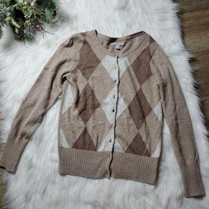 Old Navy Womens Beige Button Down Cardigan Sweater